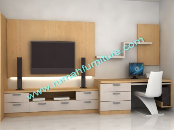 tv panel rak tv rumah furniture. Black Bedroom Furniture Sets. Home Design Ideas